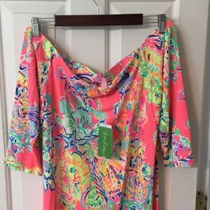 Lilly Pulitzer off the shoulder dress NEW